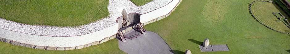 Aerial View of Newgrange (abstract detailed photo)