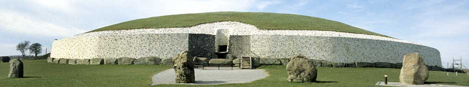 Newgrange entrance stone & roof box (abstract detailed photo)