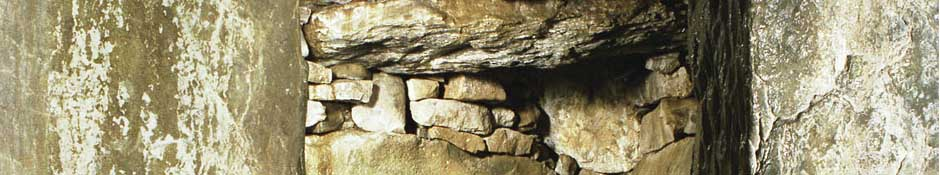 Side chamber in Dowth South (abstract detailed photo)