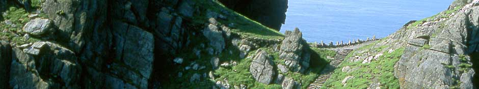 The South Steps leading to Christ's Saddle.(abstract detailed photo)