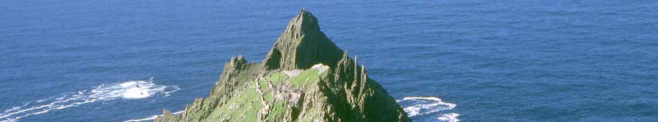 Aerial view of Skellig Michael from the east. (abstract detailed photo)